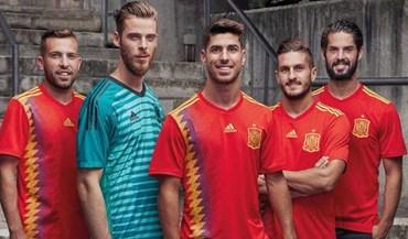 Aí está o equipamento oficial de Espanha para o Mundial'2018