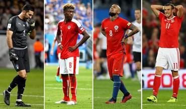 São craques mas vão ver o Mundial'2018 pela televisão