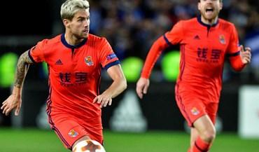 Grupo L: Real Sociedad celebra apuramento com golo ao cair do pano