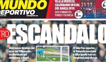 Imprensa espanhola fala em roubo e vergonha no golo de Messi que o árbitro não viu