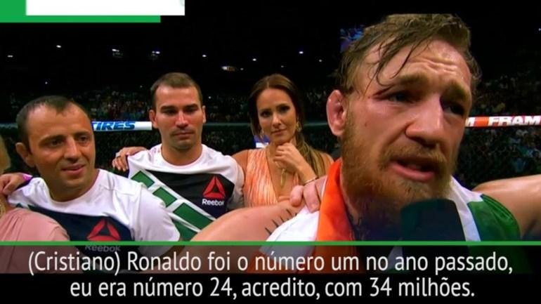 Conor McGregor quer destronar Cristiano Ronaldo