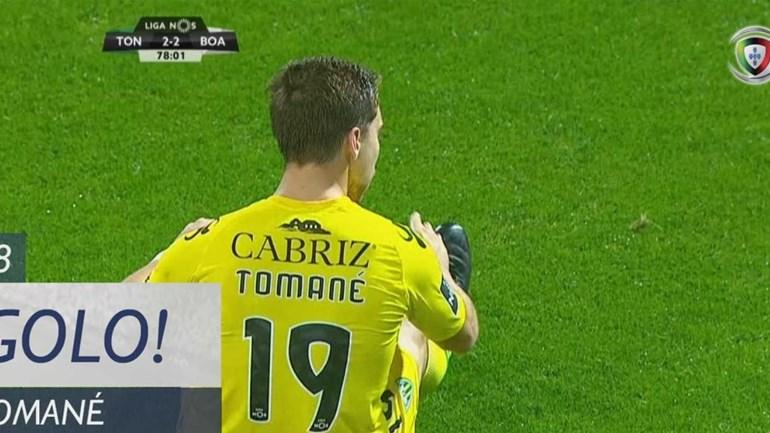 Tomané recoloca Tondela na luta pelo jogo