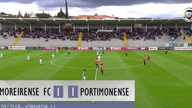 O resumo do Moreirense-Portimonense (1-1)