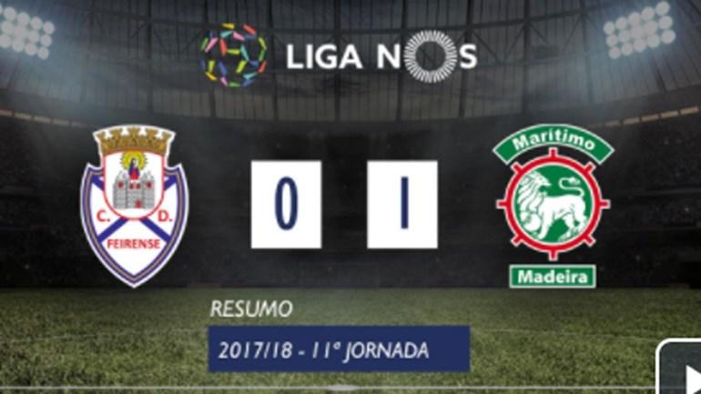 O resumo do Feirense-Marítimo (0-1)