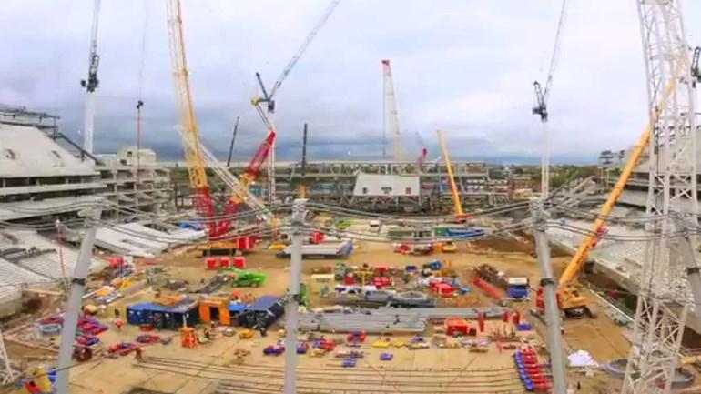 'Time lapse' mostra evolução das obras do novo estádio do Tottenham