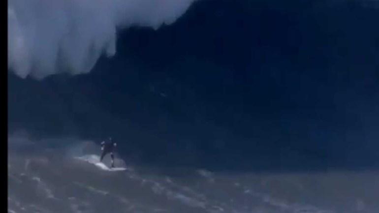 Onda gigante da Nazaré atira surfista para o hospital