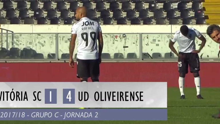 O resumo do V. Guimarães-Oliveirense (1-4)