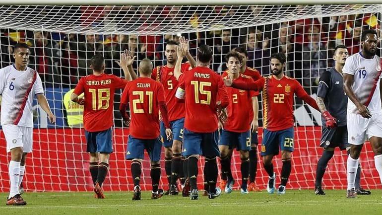 Melhores momentos de Espanha 5 x 0 Costa Rica — Amistos internacional