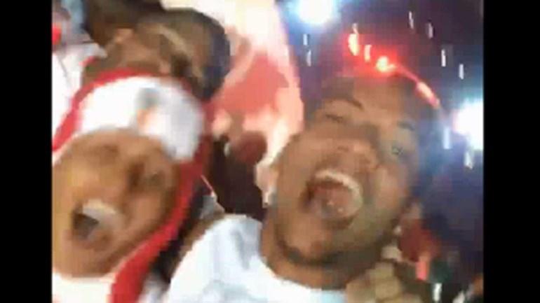 Carrillo não poupou nos festejos nem no relvado nem no carro