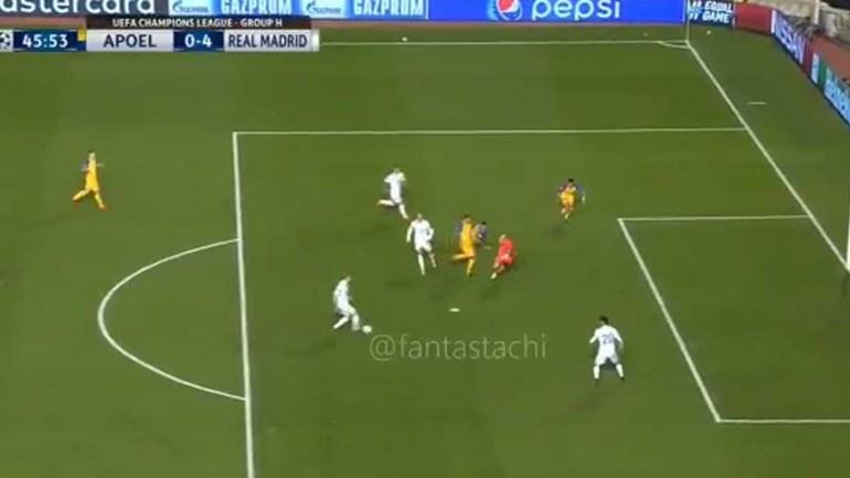 Ronaldo tinha tudo para marcar... mas passou a Benzema
