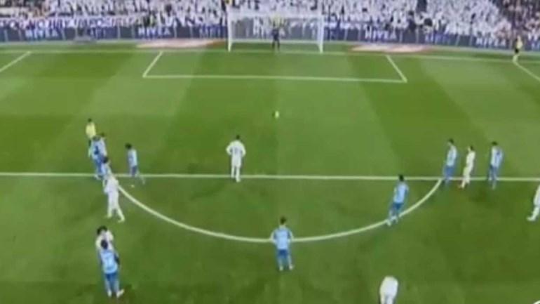 Ronaldo marcou de penálti mas foi à segunda