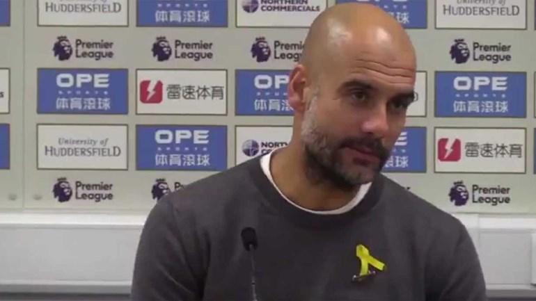Hilariante: Guardiola só no fim da resposta é que se apercebeu do que tinha feito