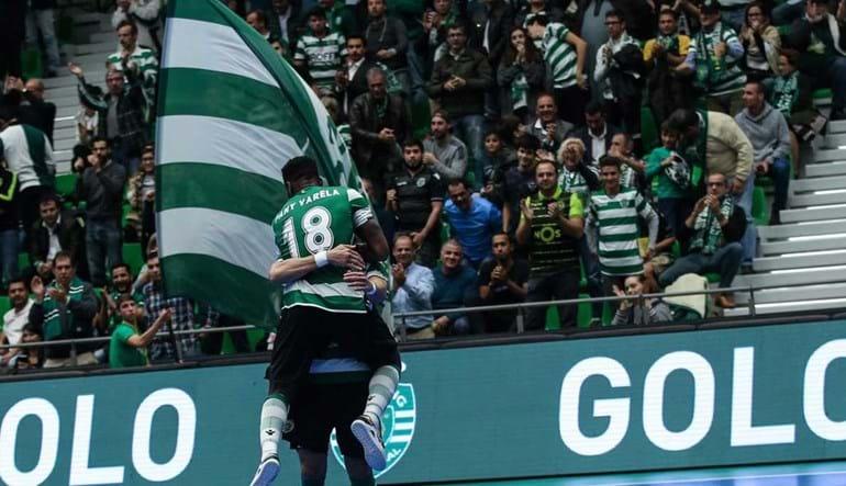 Festa dos adeptos do Sporting na UEFA Futsal Cup