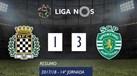 O resumo do Boavista-Sporting (1-3)