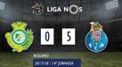 O resumo do V. Setúbal-FC Porto (0-5)