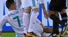 Geromel entrou durinho e deixou Ronaldo bem marcado