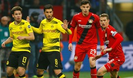 Dortmund volta a marcar passo com empate em Leverkusen