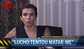 Mulher de Lucho González acusa jogador de ter tentado matá-la