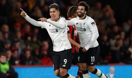 Liverpool goleia e isola-se no quarto lugar