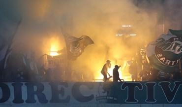 Nuvem de fumo perturbou arranque do Boavista-Sporting