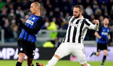 Inter e Juventus anulam-se e deixam liderança ao alcance do Nápoles