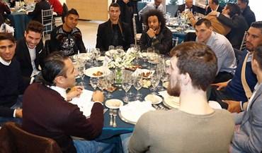 Almoço de Natal do Real Madrid reúne craques à mesa