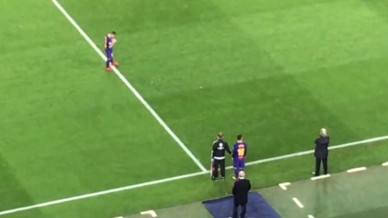 Camp Nou aplaudiu Messi quando entrou em campo