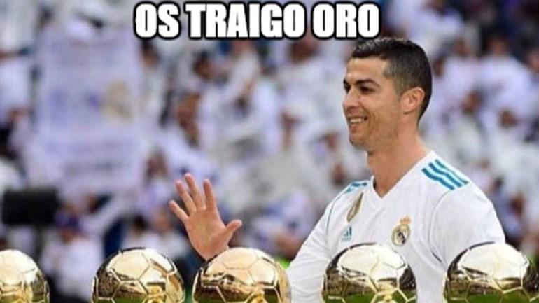 Ronaldo não trouxe só ouro ao Bernabéu (e os 'memes' não deixaram escapar)