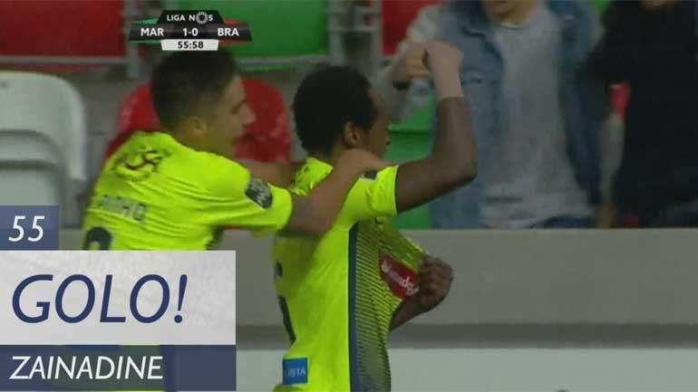 Cabeceamento de Zainadine abriu marcador no Marítimo-Sp. Braga