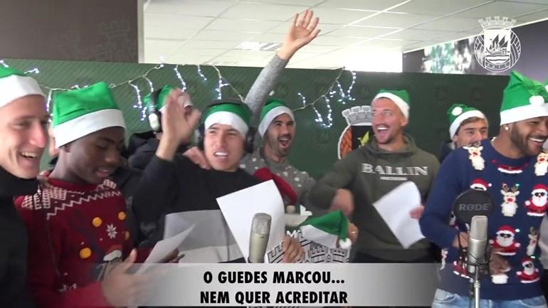 O hilariante cântico de Natal do plantel do Rio Ave com aviso a Salvador Sobral