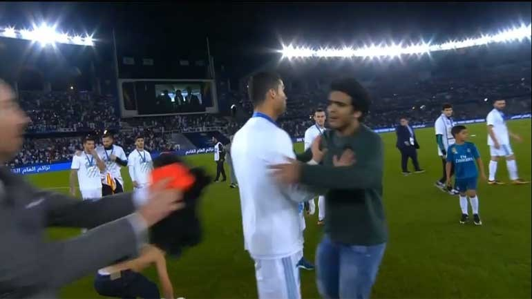 Invasor pregou (enorme) susto a Ronaldo