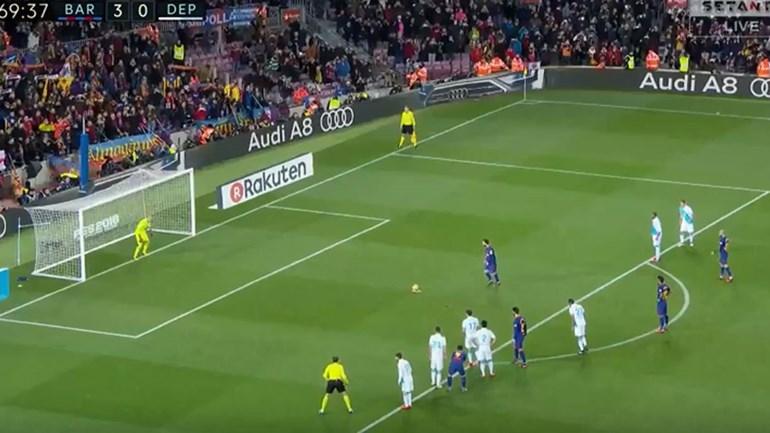 Messi desperdiçou um penálti frente ao Deportivo