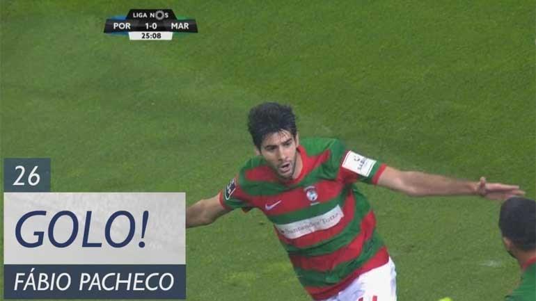 Fábio Pacheco calou o Dragão com este golo