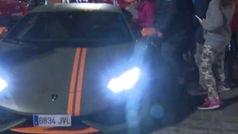 José Giménez mostra o seu novo carro