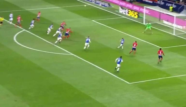 Foi com este golo que Griezmann deu vitória ao At. Madrid