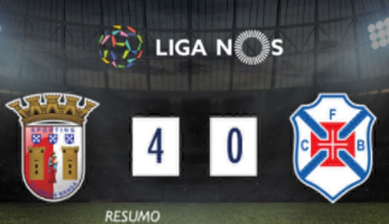 O resumo do Sp. Braga-Belenenses (4-0)