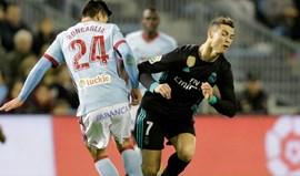 Real Madrid empata 2-2 em Vigo e fica 16 pontos do Barcelona