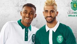 Wendel e Rúben Ribeiro promovem camisolas retro do Sporting
