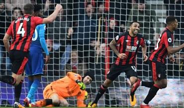 Bournemouth 'vira' marcador em quatro minutos e agrava crise do Arsenal