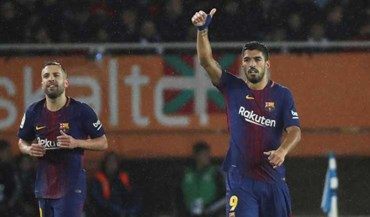 Barcelona recupera de desvantagem de dois golos e bate a Real Sociedad