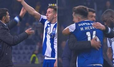 Sérgio Conceição e Herrera: do raspanete ao abraço final