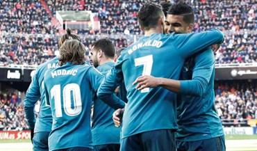 Duelo Ronaldo vs. Gonçalo Guedes: as melhores imagens do Valencia-Real Madrid