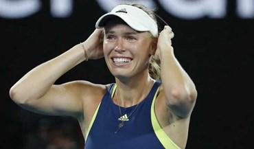 As imagens da festa de Caroline Wozniacki após a vitória no Open da Austrália
