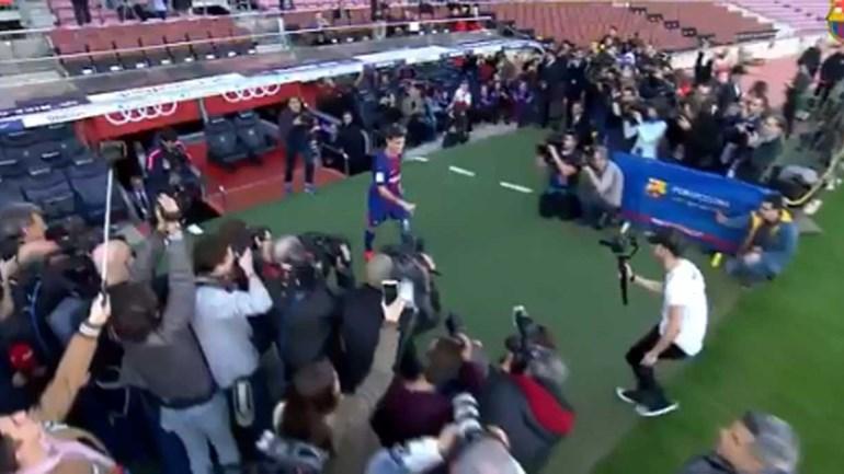 Coutinho já conhece Camp Nou