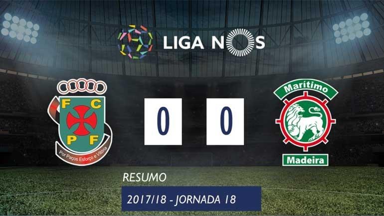 O resumo do P. Ferreira-Marítimo (0-0)