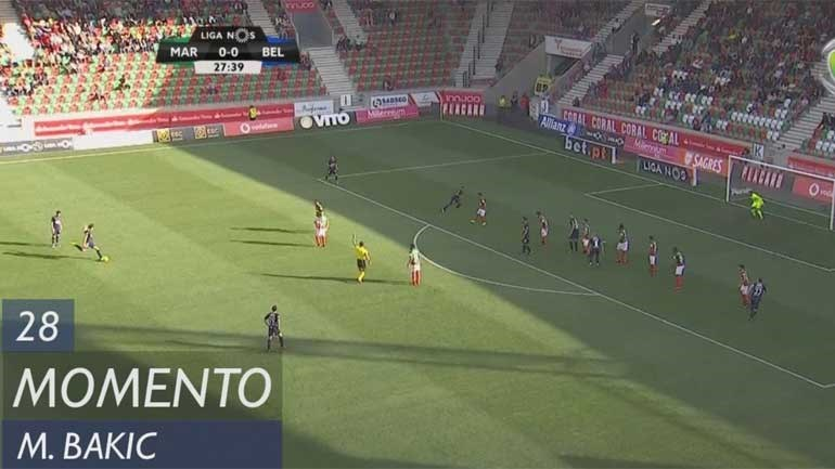 Bakic ficou perto de um golo à Cristiano Ronaldo