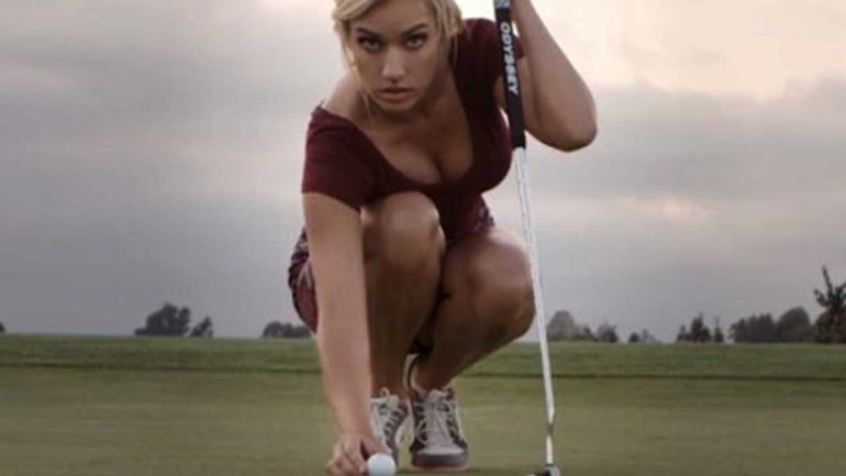 Golfista Paige Spiranac no centro da polémica no Dubai Desert Classic