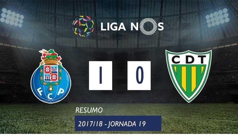 O resumo do FC Porto-Tondela (1-0)