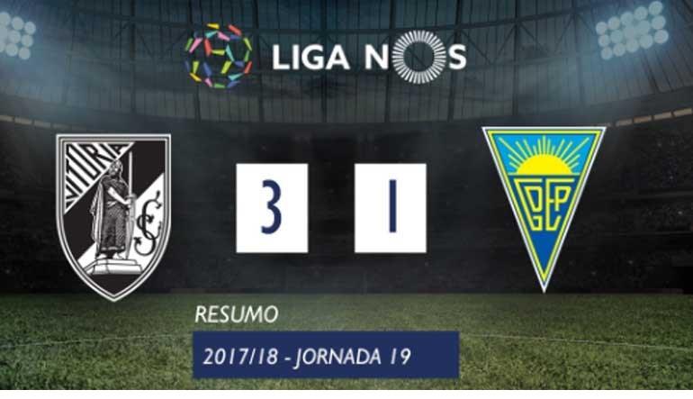 O resumo do V. Guimarães-Estoril (3-1)