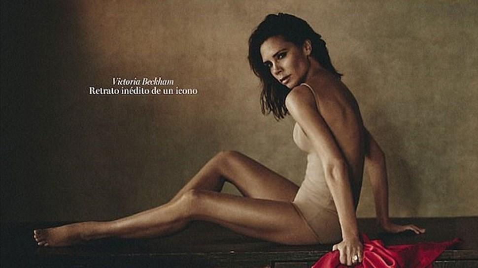 Victoria Beckham exibe lado sensual na 'Vogue'